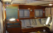 Sailing Yacht Cambria systems refit 08/09 furniture remove